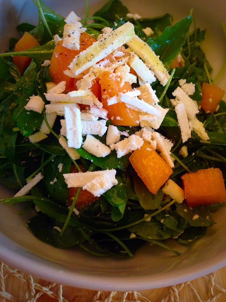 rucola melone e ricotta salata